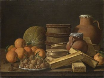Still Life with Oranges and Walnuts | Luis Melendez | oil painting