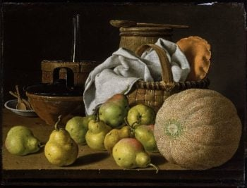 Still Life with Melon and Pears | Luis Melendez | oil painting