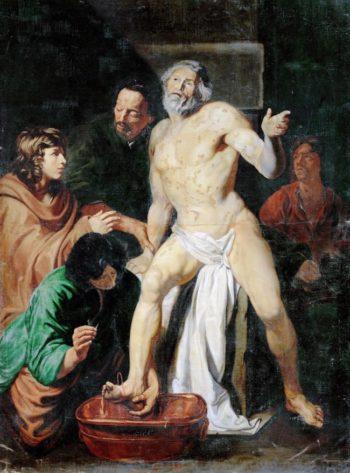 Death of Seneca | Jacob I van Oost Attributed | oil painting