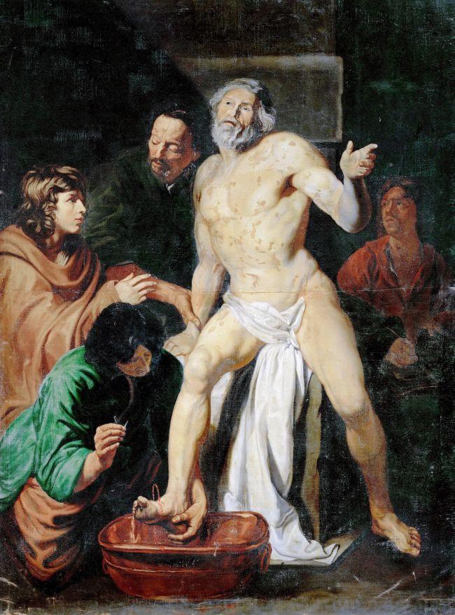 Death of Seneca   Jacob I van Oost Attributed   oil painting