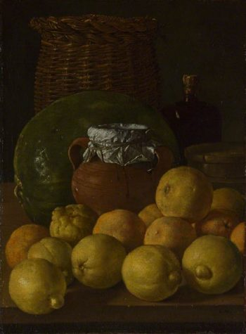Still Life with Lemons and Oranges | Luis Melendez | oil painting