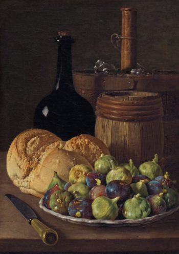 Still Life with Figs and Bread | Luis Melendez | oil painting