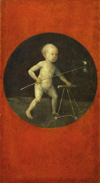 Small Child with Windmill | Hieronymus Bosch | oil painting