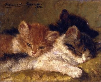 The Sleeping Kittens | Henriette Ronner Knip | oil painting