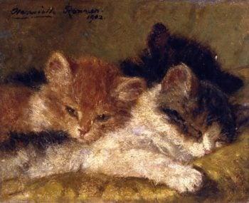 The Sleeping Kittens   Henriette Ronner Knip   oil painting