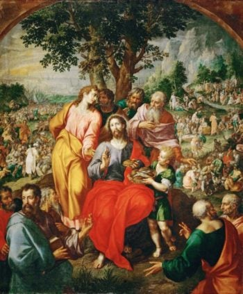 Feeding of the Five Thousand | Hendrik de Clerck | oil painting