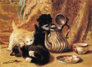 Teatime | Henriette Ronner Knip | oil painting