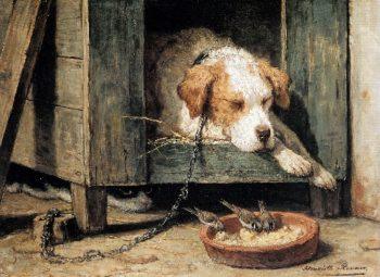 Les Parasites | Henriette Ronner Knip | oil painting