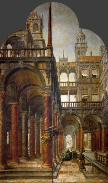 Annunciation | Hans Vredeman de Vries and Hans von Aachen | oil painting
