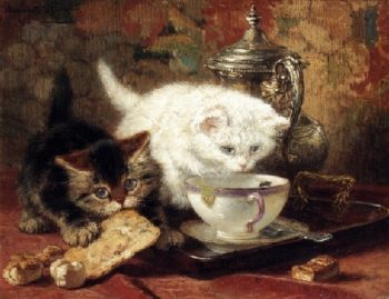 High Tea | Henriette Ronner Knip | oil painting