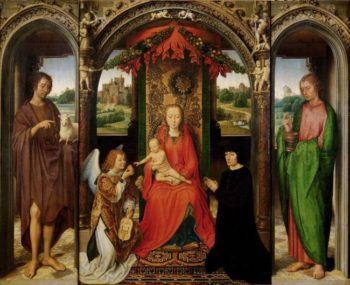 Triptych with the Virgin and Child Enthroned | Hans Memling | oil painting