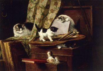 Artful Play at play | Henriette Ronner Knip | oil painting
