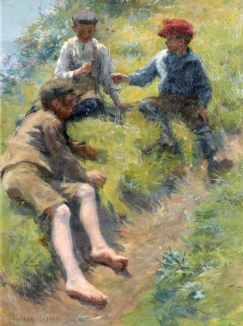 Three Boys | Harold Harvey | oil painting