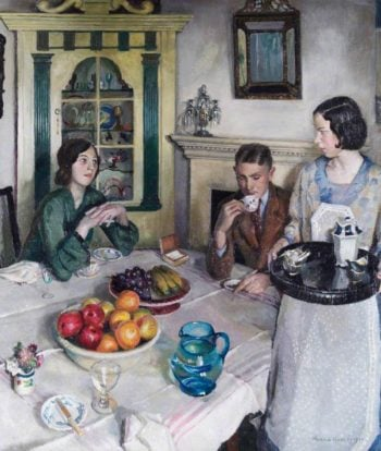 The Young Menage | Harold Harvey | oil painting