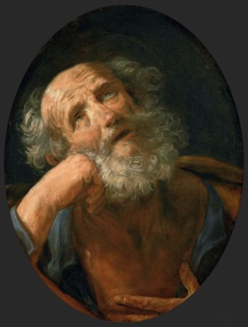 Penitent Saint Peter | Guido Reni | oil painting