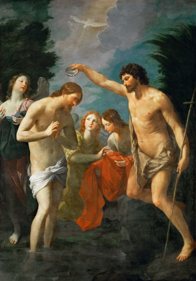 Baptism of Christ | Guido Reni | oil painting