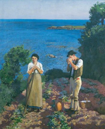 The Potato Harvest | Harold Harvey | oil painting