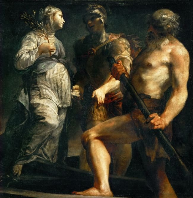 Aeneas the Sibyl and Charon | Giuseppe Maria Crespi | oil painting