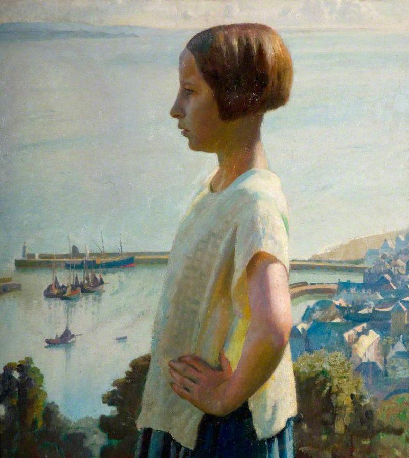 The Little Maiden | Harold Harvey | oil painting