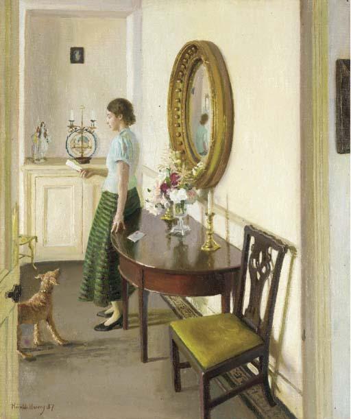The Letter   Harold Harvey   oil painting