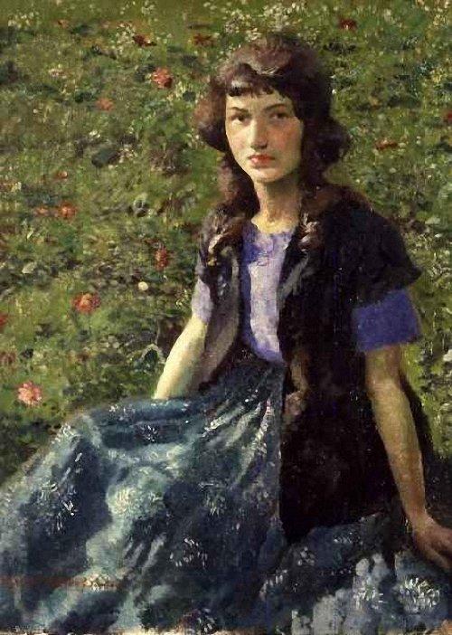 The Gipsy Girl | Harold Harvey | oil painting