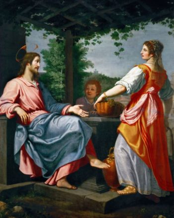 Christ and the Samaritan Woman at the Well | Giovanni Bilivert | oil painting