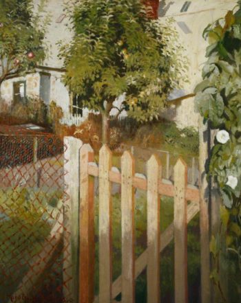 The Gate | Harold Harvey | oil painting