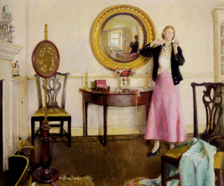 The Favourite Necklace Unknown | Harold Harvey | oil painting