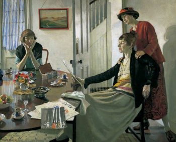 The Critics | Harold Harvey | oil painting