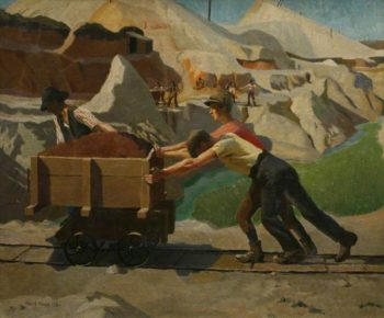 The Clay Pit | Harold Harvey | oil painting