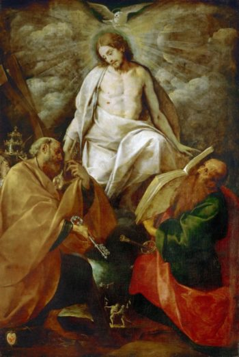 Christ Appears to the Apostles Peter and Paul | Giovanni Battista Crespi | oil painting