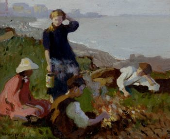 The Bonfire | Harold Harvey | oil painting