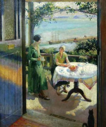 The Blue Door | Harold Harvey | oil painting