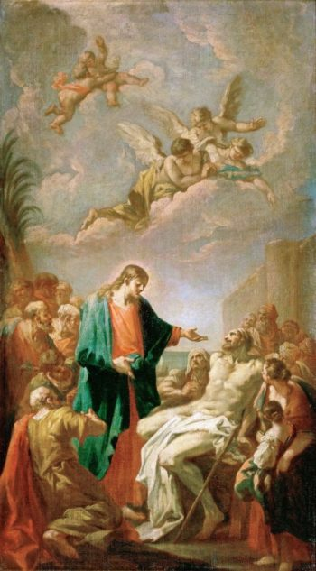 Healing of the Paralytic | Giovanni Antonio Pellegrini | oil painting