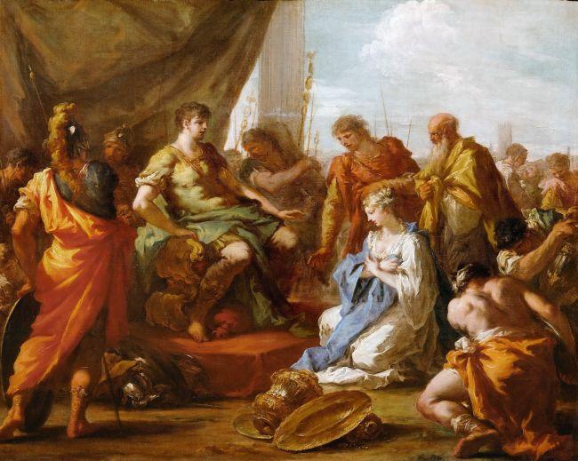 Continence of Scipio   Giovanni Antonio Pellegrini   oil painting