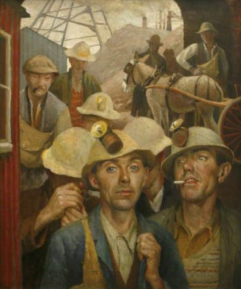 St Just Tin Miners | Harold Harvey | oil painting