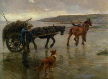 Seaweed Gatherers | Harold Harvey | oil painting