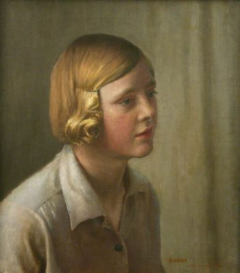 Rhoda (the artist's niece) | Harold Harvey | oil painting