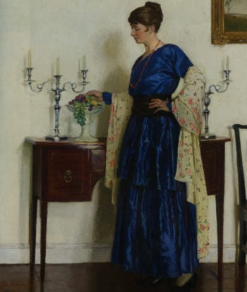 Portrait of the Artist's Wife | Harold Harvey | oil painting