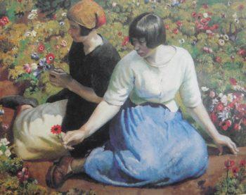 Picking Flowers | Harold Harvey | oil painting