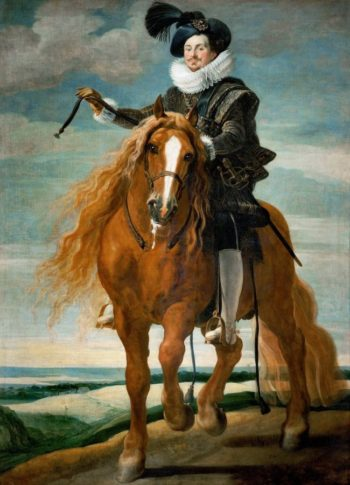 Equestrian Portrait of Don Diego Messia Felipe de Guzman Marques | Gaspard de Crayer | oil painting