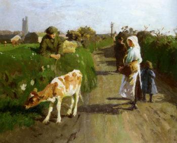 Near Penzance | Harold Harvey | oil painting