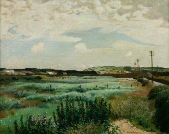 Marazion Marsh | Harold Harvey | oil painting