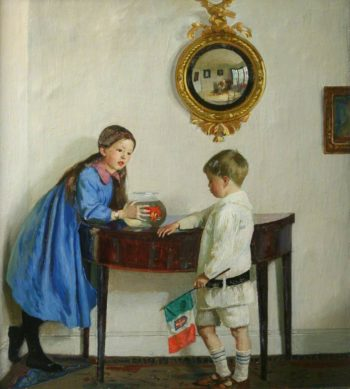Laura and Paul Jewill Hill | Harold Harvey | oil painting