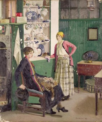 In the Kitchen | Harold Harvey | oil painting