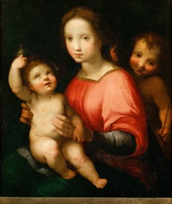 Saint Mary with Child and young John the Baptist | Francesco Vanni | oil painting