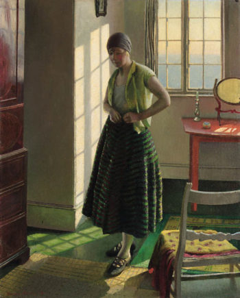 Gertrude in an Interior | Harold Harvey | oil painting