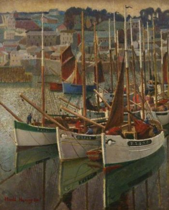 French Crabbers | Harold Harvey | oil painting