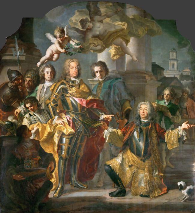 Charles VI and Gundakar Count Althann | Francesco Solimena and Johann Gottfried Auerbach | oil painting