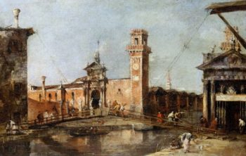 The Entrance to the Arsenal in Venice | Francesco Guardi | oil painting